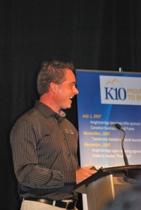 Brad Presenting at the K10 Conference
